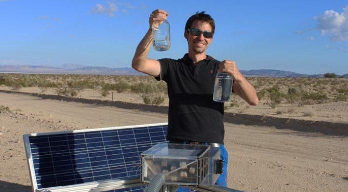 Νερό στην έρημο από τον αέρα