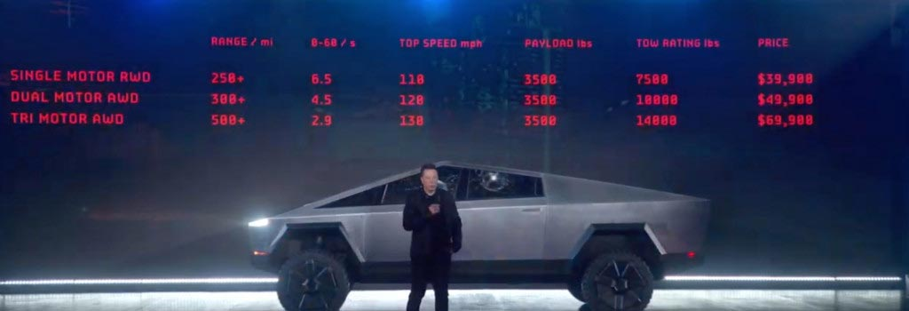 Αυτό είναι το Tesla Cybertruck, το pickup που παρουσίασε ο Elon Musk