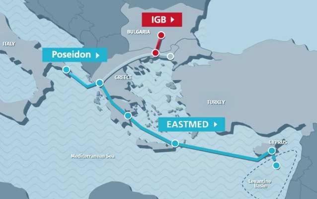 Συμφωνία για φυσικό αέριο με τον αγωγό Eastmed