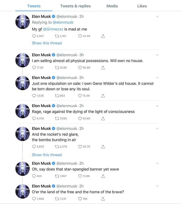 Τα περίεργα tweet του Elon Musk για την καραντίνα